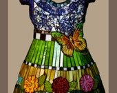 notecards (6) of my Mosaic Dresses, blank inside-GIFT