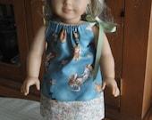 Alice in Wonderland inspired American Girl Doll Pillowcase Dress