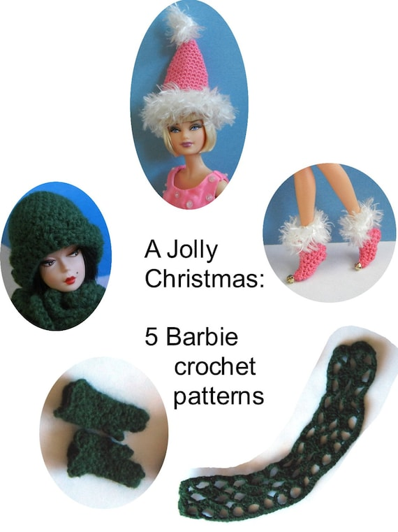 5 Crochet Patterns Pdf For Barbie Size By Princessofcrochet