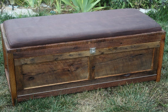 Your Customized Reclaimed Barn Wood Upholstered Storage Chest