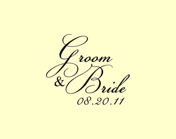 Custom Made Wedding Address Rubber Stamp Personalized Name W6 option to purchase digital file only