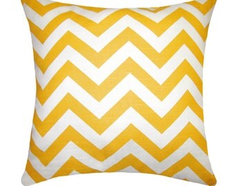 Premier Prints Zig Zag Yellow Gold Chevron Outdoor Decorative Pillow Free Shipping