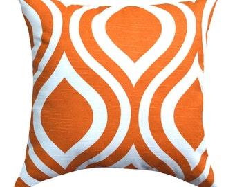 Premier Prints Emily  Tangelo Orange Ogee Decorative Throw Pillow - Free Shipping