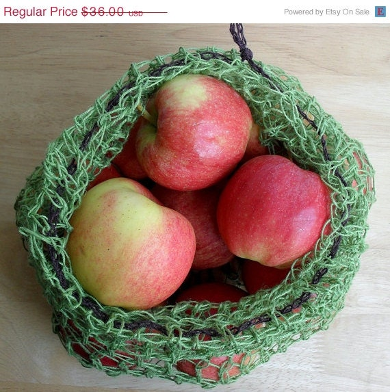 Summer Sale on Now Custom Listing for Marianne of 6 Hemp Mesh Produce Bags