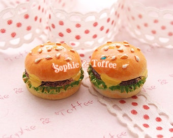 Lettuce Hamburger Kawaii Cabochon - 8pcs