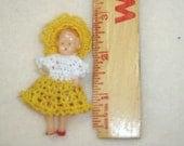 """minature new crocheted doll dress. 2-21/2"""" doll   bitty Hitty size"""