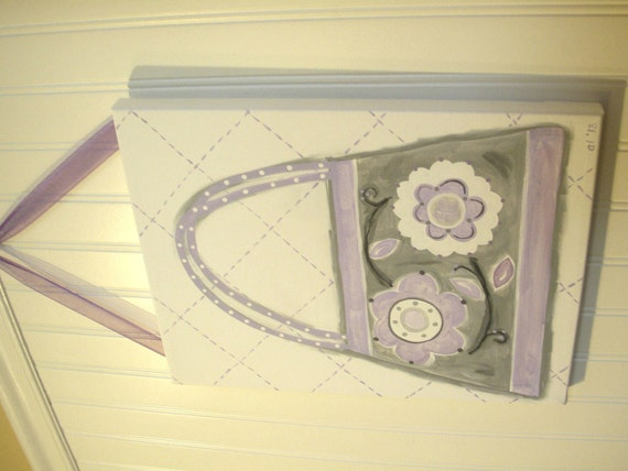 11 x 14 the lilac purse Original canvas painting