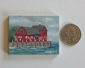 Miniature Fish House Painting