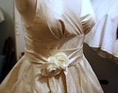 Sample Sale - June - 1950s Tea Length Wedding Dress, silk dupion