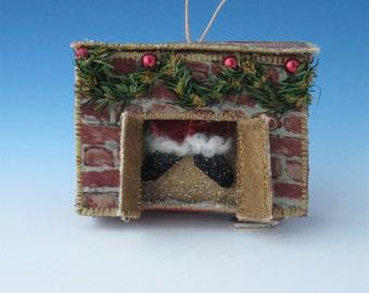 Christmas Ornaments, Funky Folk Ornament, Folk Santa Claus, Holidays, Ornaments