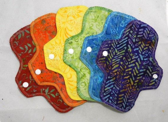 A Batik Rainbow of Pantyliners
