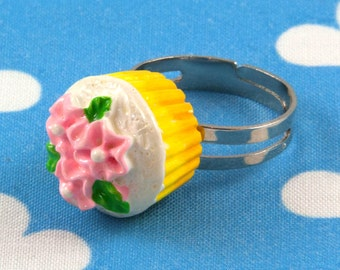 Kawaii Cupcake Ring Adjustable