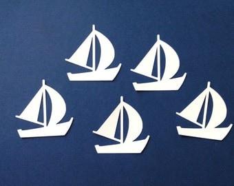 sailboat sillhouettes die cut embellishments set of 8