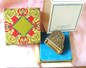 Vintage Avon Baby Grand Piano Perfume Glace from 1971