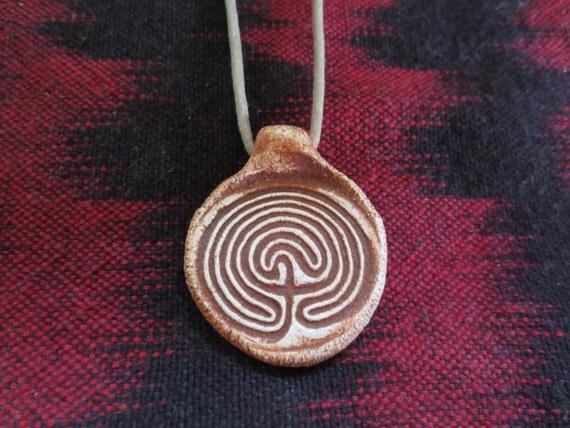 Maze Of Life Ancient Symbol Rock Art Pendant Necklace