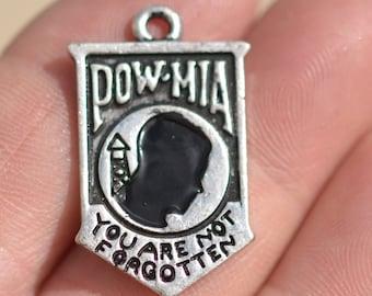 1 Silver POW MIA Charm SC1089