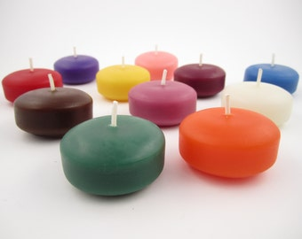 Set of 3 Beeswax Floating Candle Discs