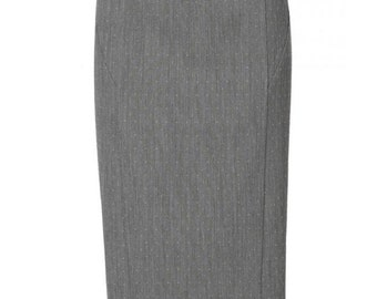 Pencil Skirt with Cord Seam, custom made pencil skirt, hand made skirt