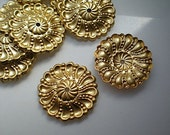 12 brass mirror rosettes, No. 13