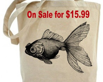 Gold Fish  - Eco Friendly  Canvas  Tote Bag