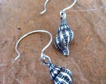 Morning Star Collection - Sterling Silver Mini Conch Earrings