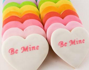 Valentine Conversation Heart Cookies (12 cookies)