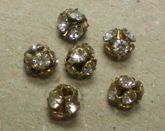 Crystal Metal Ball Beads