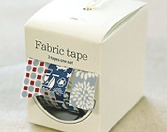 Nuage Fabric Masking Tape - Blue Owl - Set 3