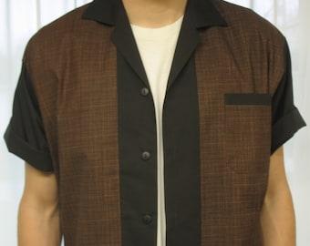 Men's Rockabilly Shirt Jac Brown and Black