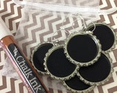50 Chalkboard Wine Charms and 1 Chalk Marker- Wedding Drink Labels, Holiday Parties, Drink Charms