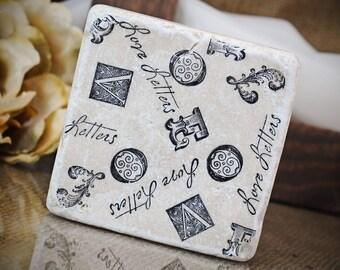 Vintage Love Letters Absorbent Stone Tile Drink Coaster