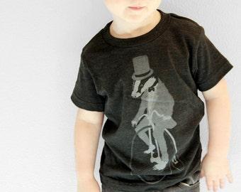 Childrens Badger on a Bike - Kids Tee - American Apparel - 2 4 6 8 10 12