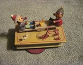 SALE--Vintage Musical Wooden See Saw