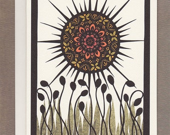 Sun Worship - Greeting Card