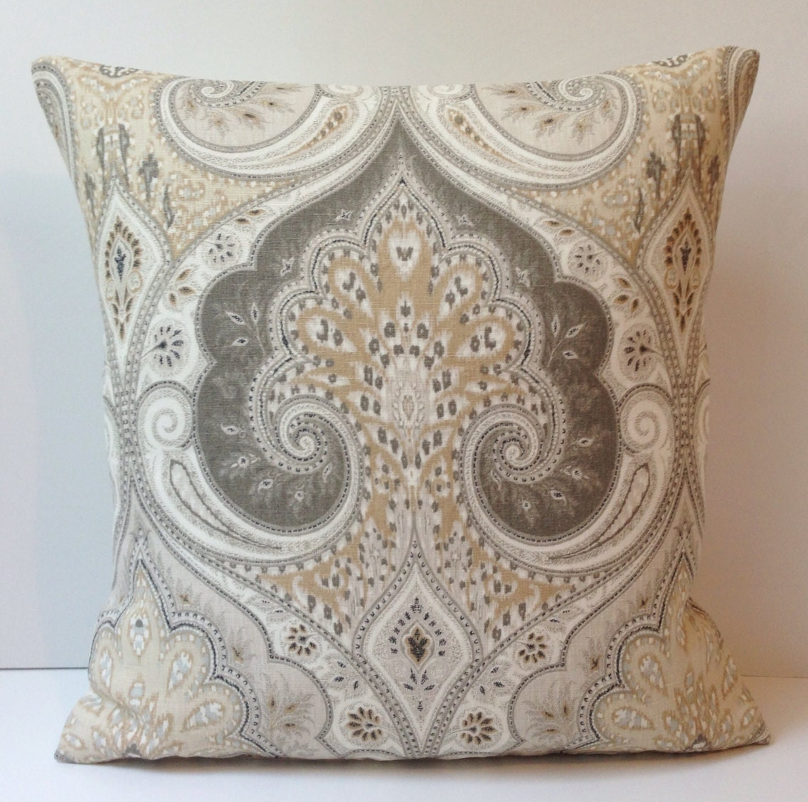 Throw Pillows Native American : Damask Pillow Cover Neutral Pillow Throw Pillow Beige Cushion