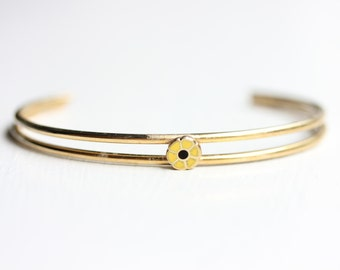 Sample Sale- Yellow Daisy Cuff Bracelet