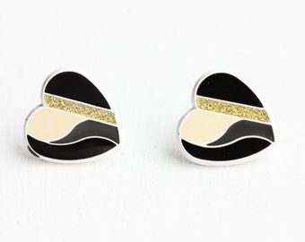 Sample Sale - Geometric Heart Studs