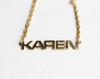Vintage Name Necklace - Karen