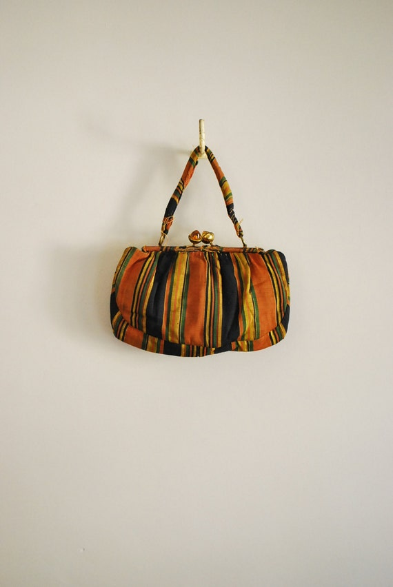 This Way To The Egress... Vintage Carnival Stripe Purse