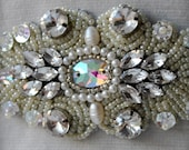 WEDDING Handmade Sash, Belt, 30% OFF, TSARINA, Beaded Rhinestones, Crystals, Gemstones, Pearls, Swarovski, 2015, Gatsby Weddings