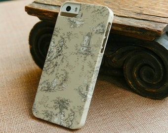 iPhone 6 Case Tan Toile iPhone Case, Pretty Cell Phone Cover, iPhone 5S, iPhone 5C Case iPhone 6 Case