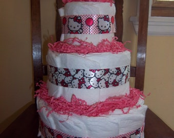 Hello Kitty 3 Tier Diaper Cake