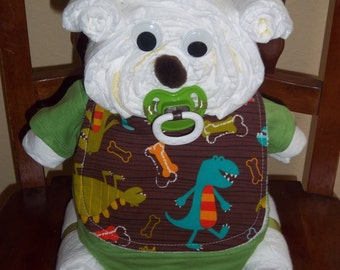 Dino Dude Diaper Bear