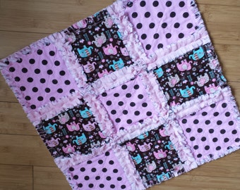 Elephants Security Blanket / Raggedy Quilt