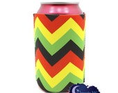 Jamaican Me Crazy Chevron - Can & Bottle Insulated Drink Sleeve