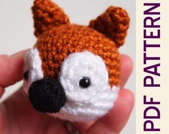 Amigurumi Crochet Woodland Fox Head Keychain PDF Pattern