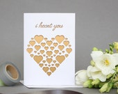 Lasercut Greeting Card - I Heart You