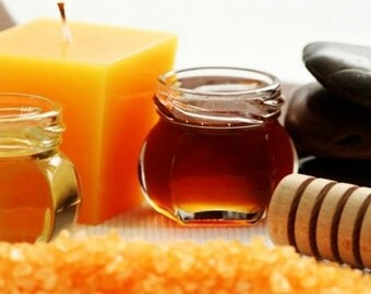 Bath Salts 16 oz. -  Honey Orange Bath Salts - Aromatherapy  -  Sea Salt  -  Pure Essential Oils  - Honey Orange Scent