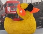 Digital file pdf download knitting pattern Uber Cool rubber Duck (Ducky) Toy pdf download knitting pattern