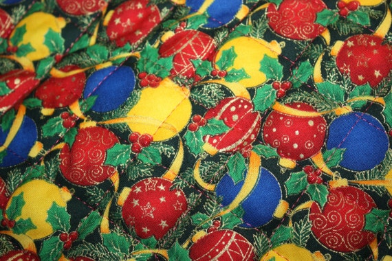 Double Sided Quilted Fabric Christmas Season S By 36oldsgal